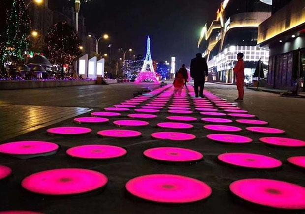 圆形地砖灯